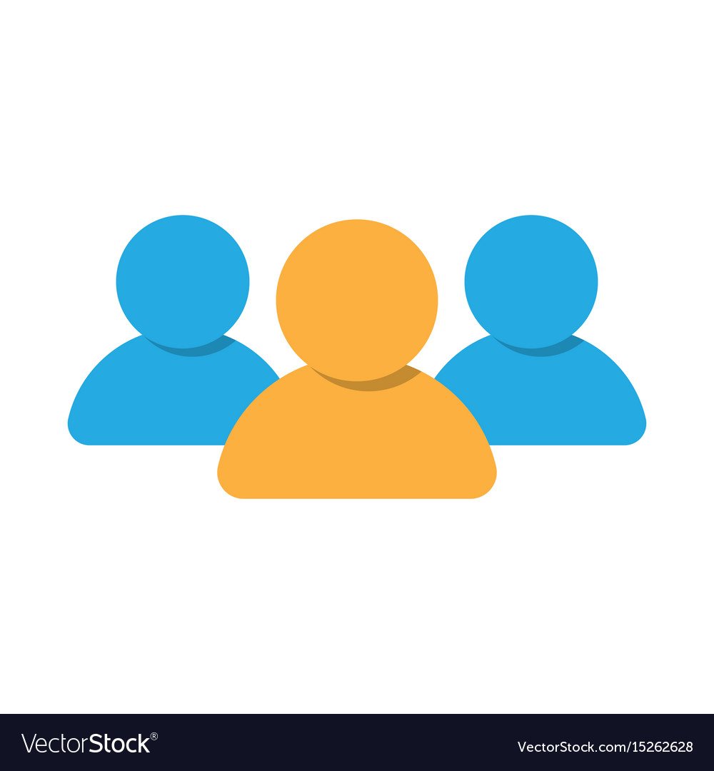 group of people icon royalty free vector image rh vectorstock com