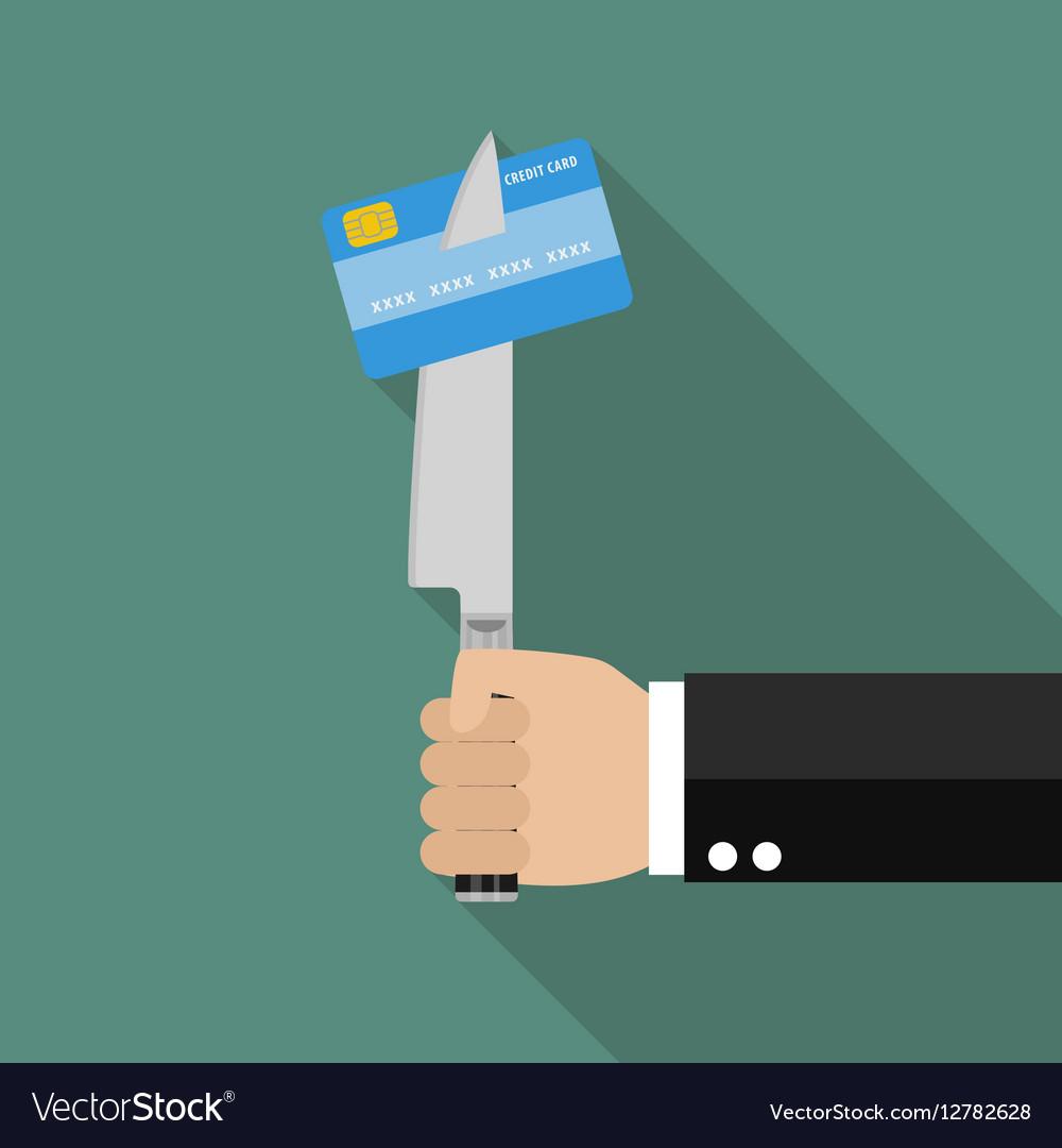 Man knifed credit card