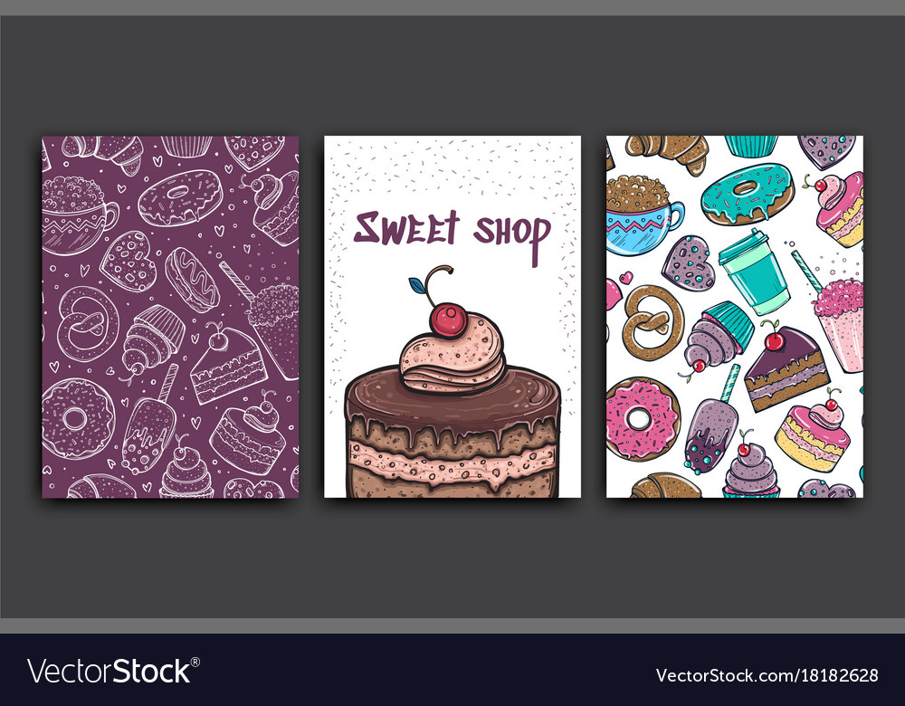 Poster template with pie advertising for vector image