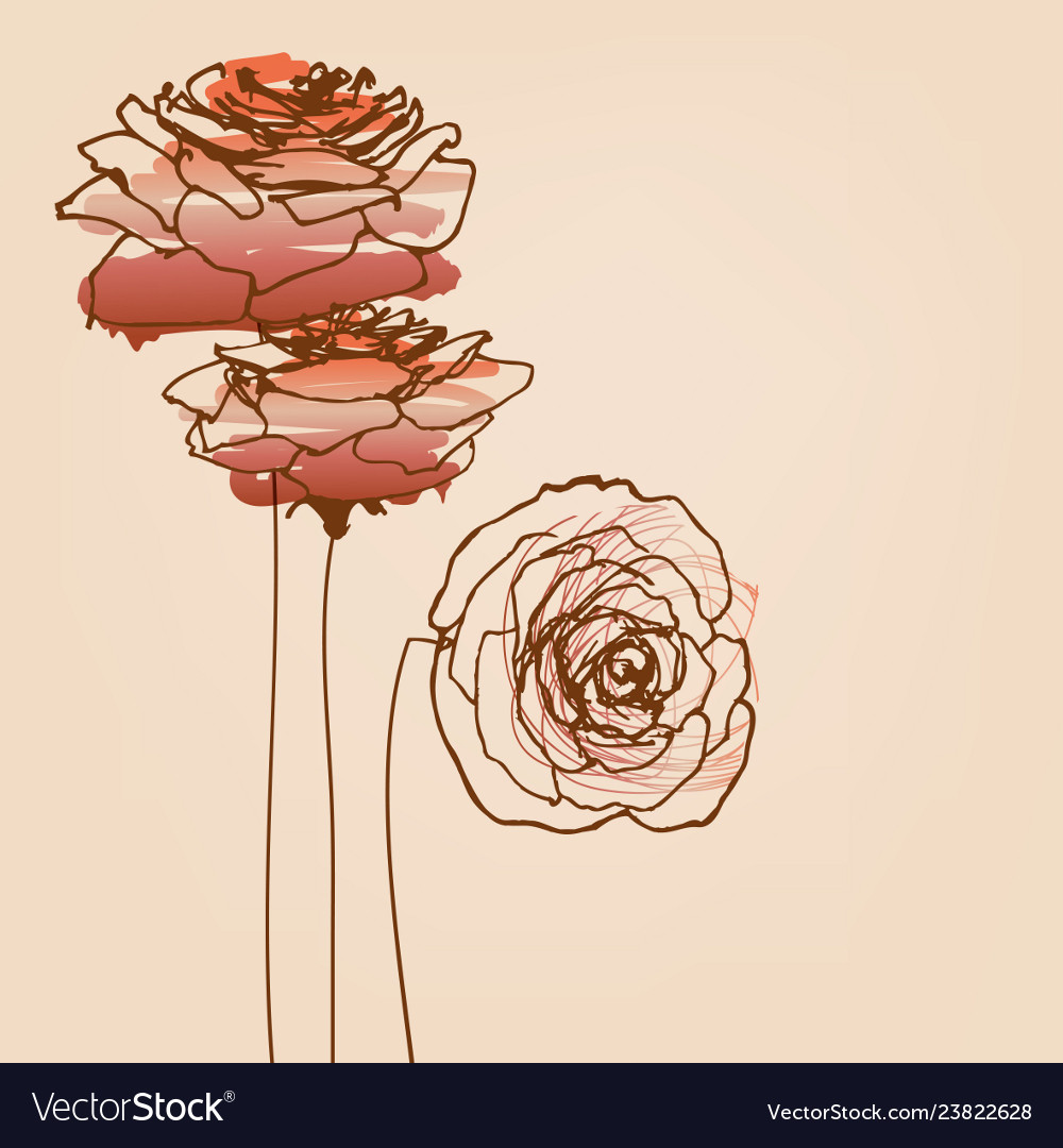 Roses card beautiful symbols of love