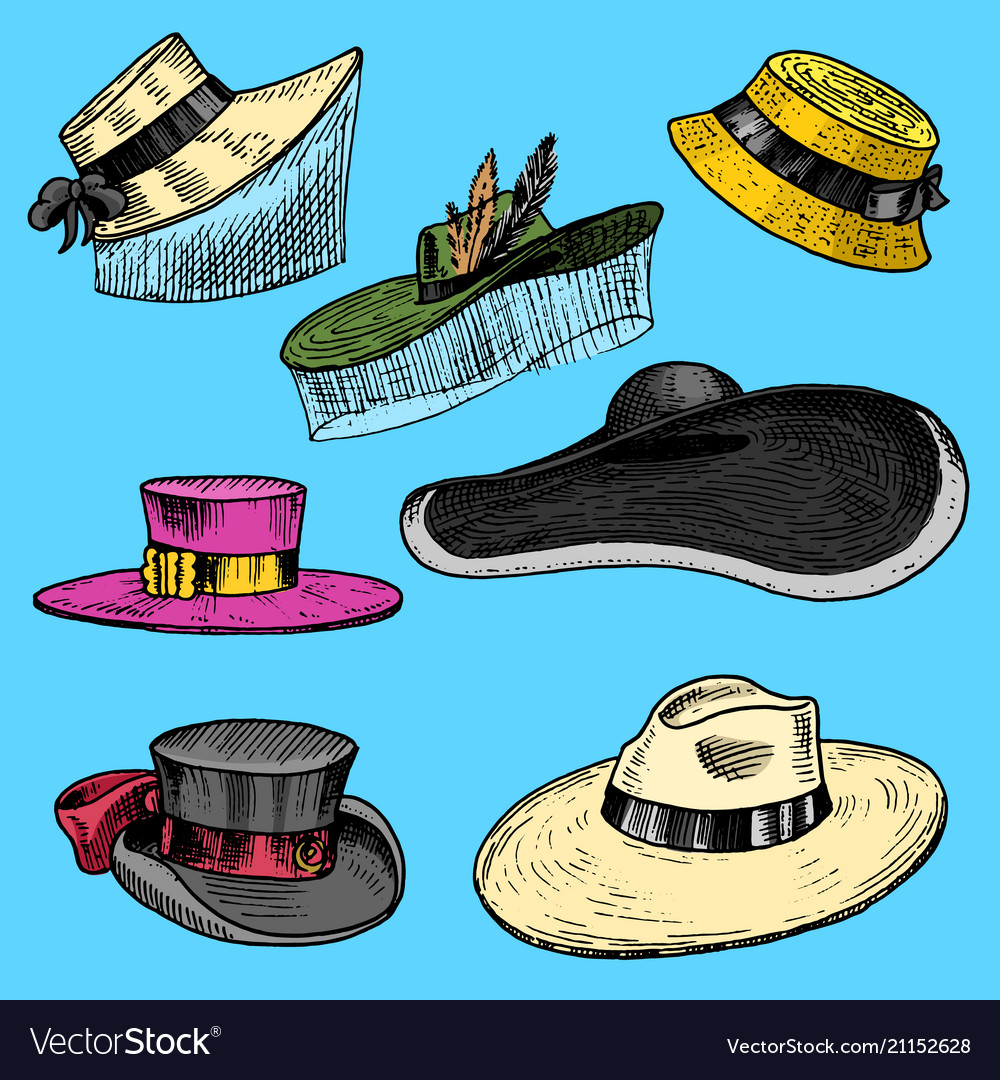 Summer hats collection for elegant woman female