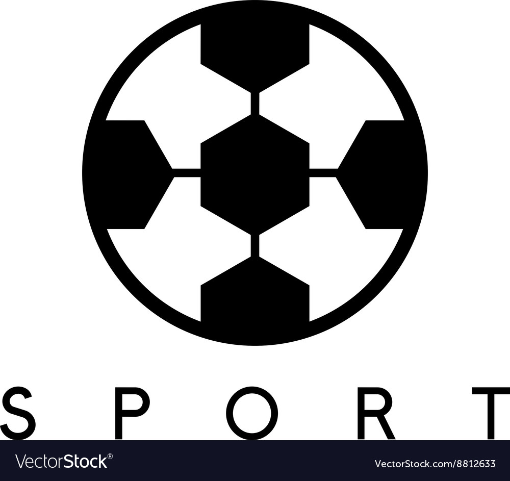 Abstract icon design template of soccer ball