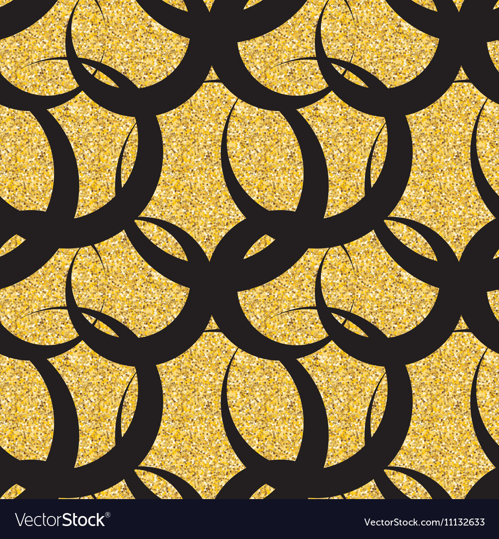 Abstract Simple Glossy Golden Seamless Pattern