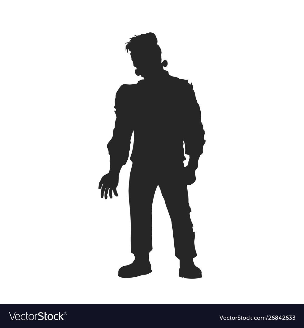Black silhouette frankenstein monster