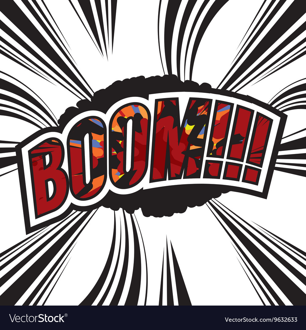 Boom Comic Sound Effect vector image