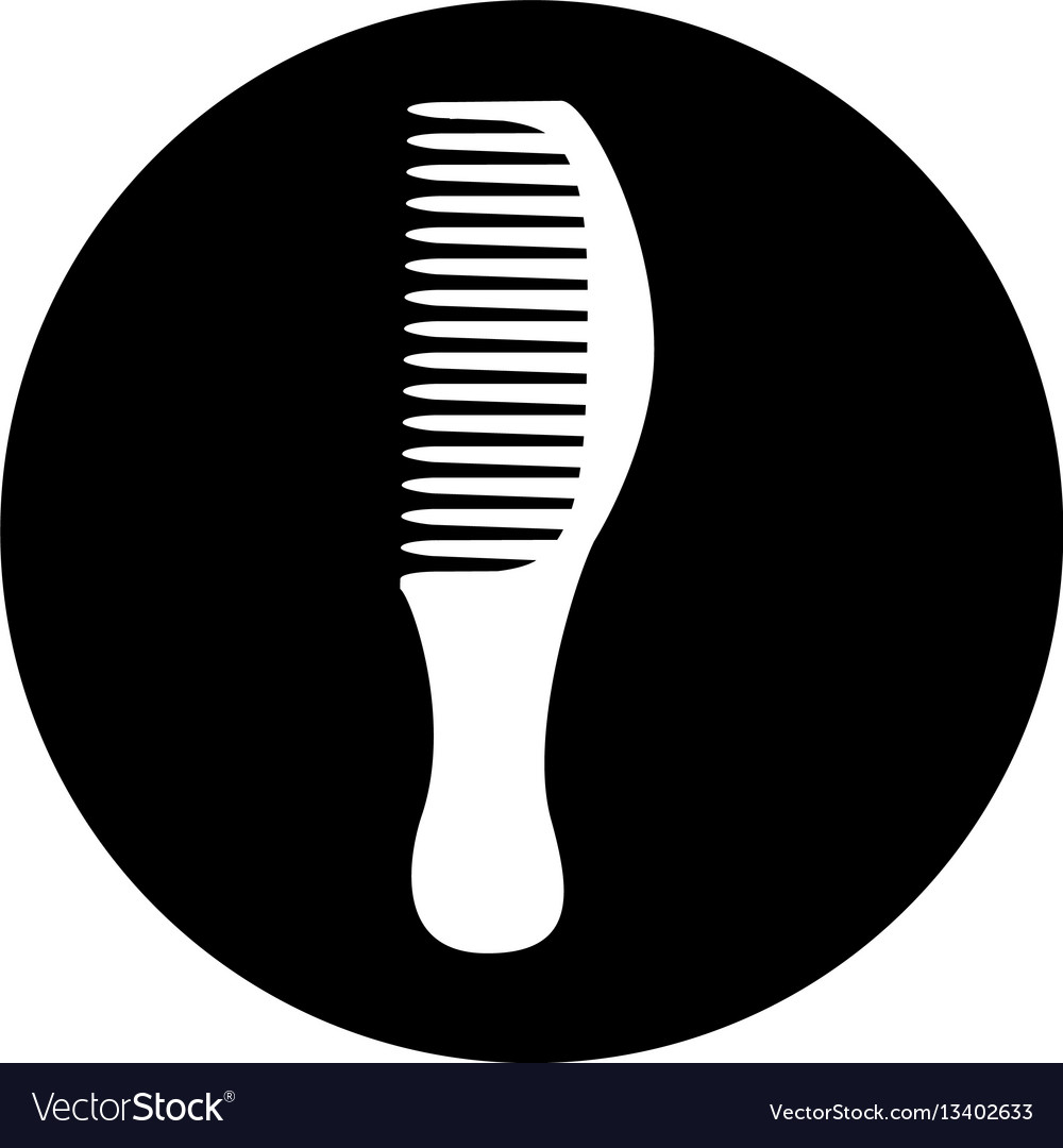 Hairdresser comb isolated icon