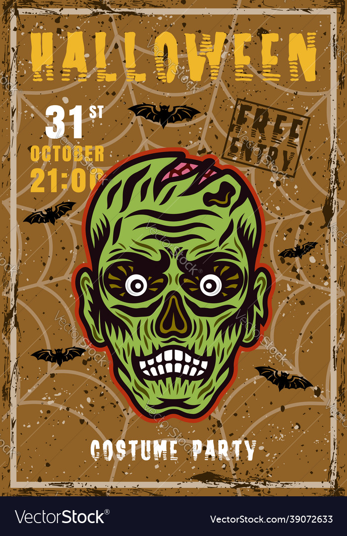 Halloween costume party invitation poster
