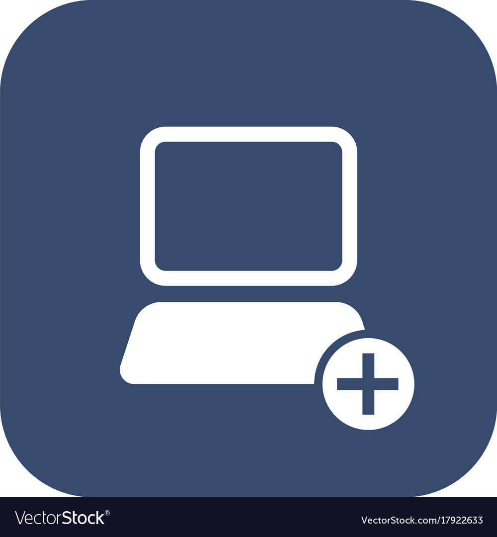 Icon add computer