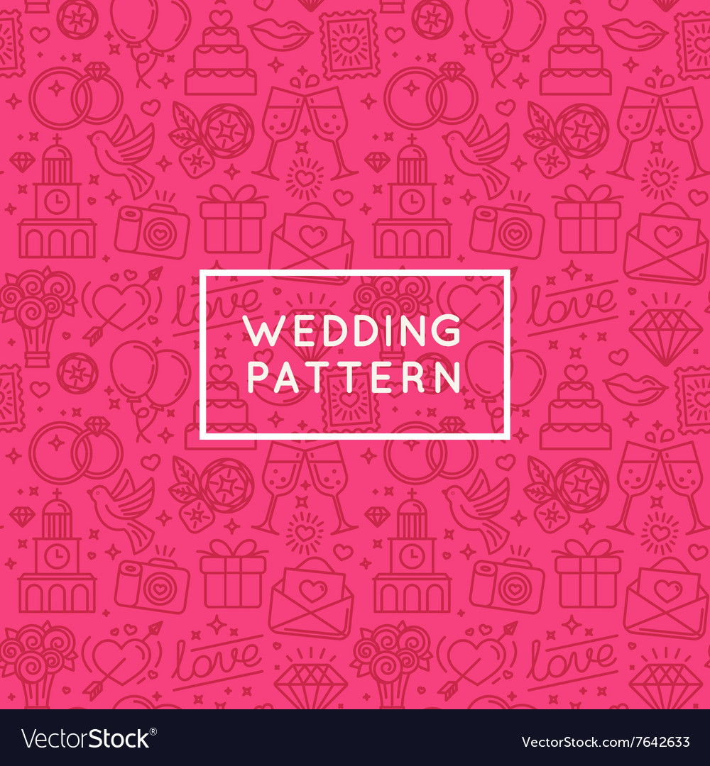 Seamless pattern and background for wedding