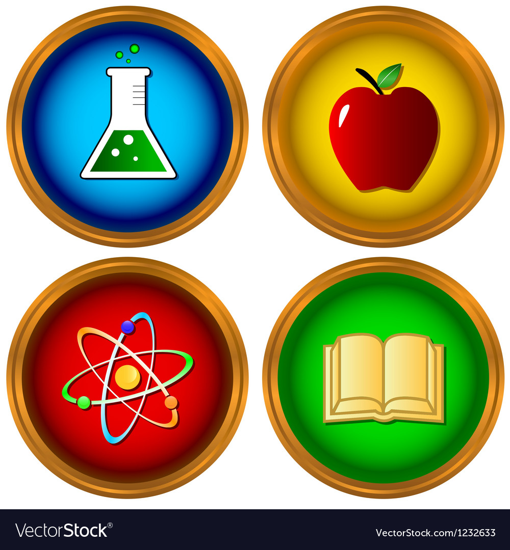 Set on a scientific subject vector image