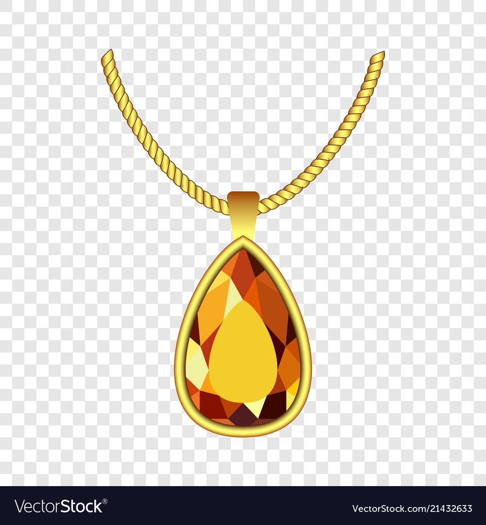 Yellow Topaz Jewelry Icon Realistic Style