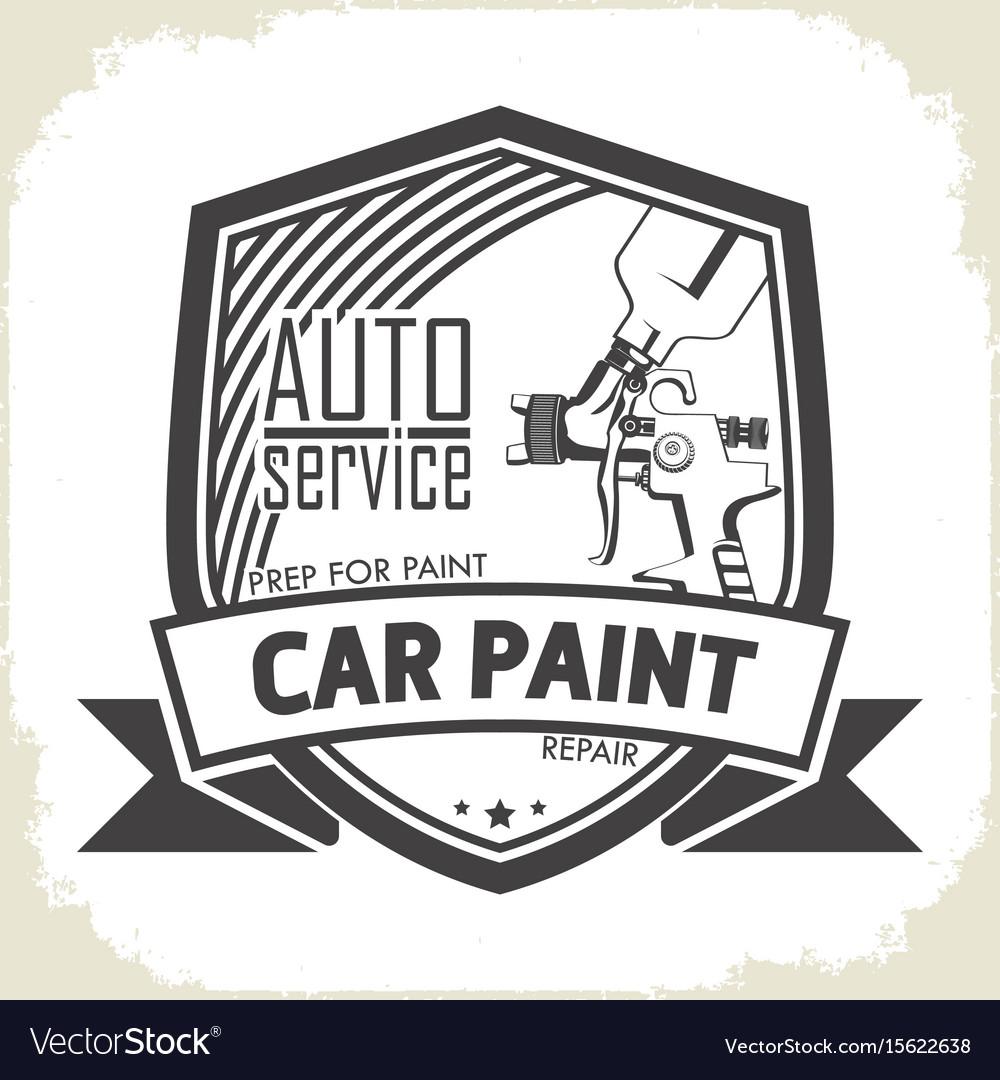 Car paint auto service