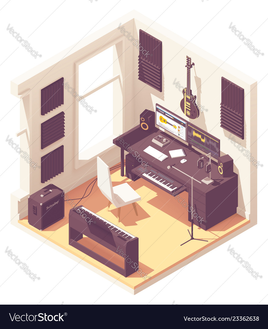 Music Recording Studio Royalty Free Vector