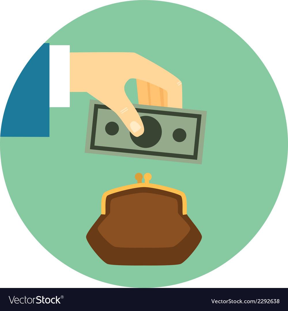 save money icon royalty free vector image vectorstock