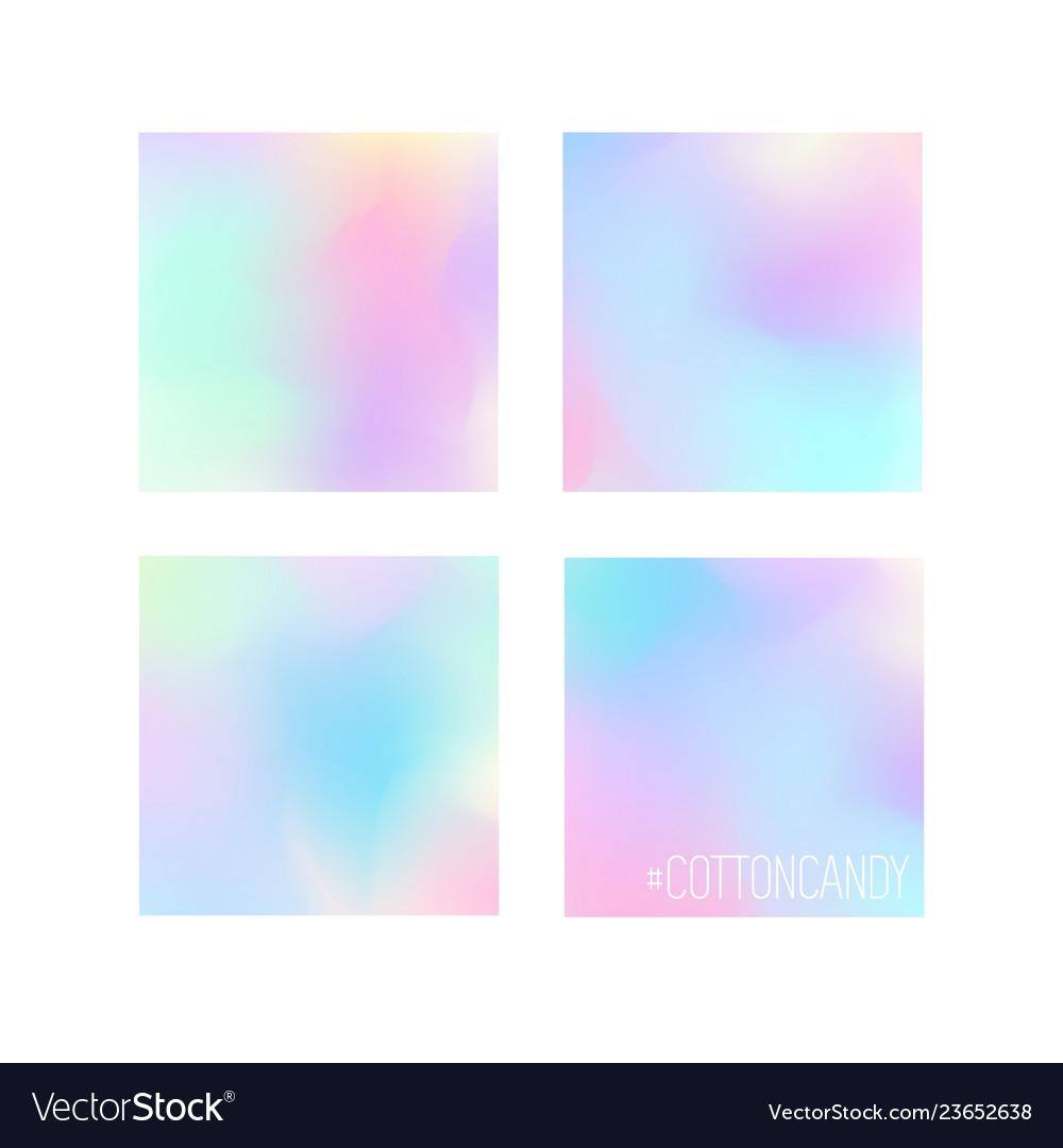 Set of 4 pastel colors gradiend background designs