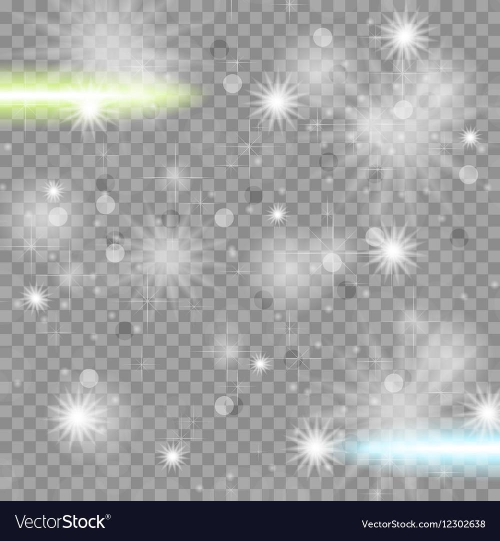 Shiny starry transparent sparkling effect