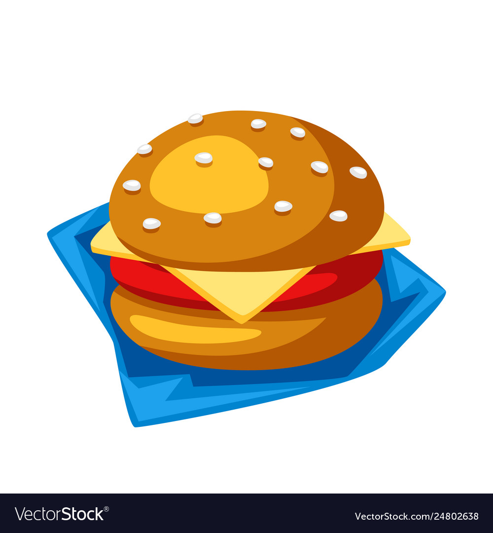 Stylized hamburger or cheeseburger