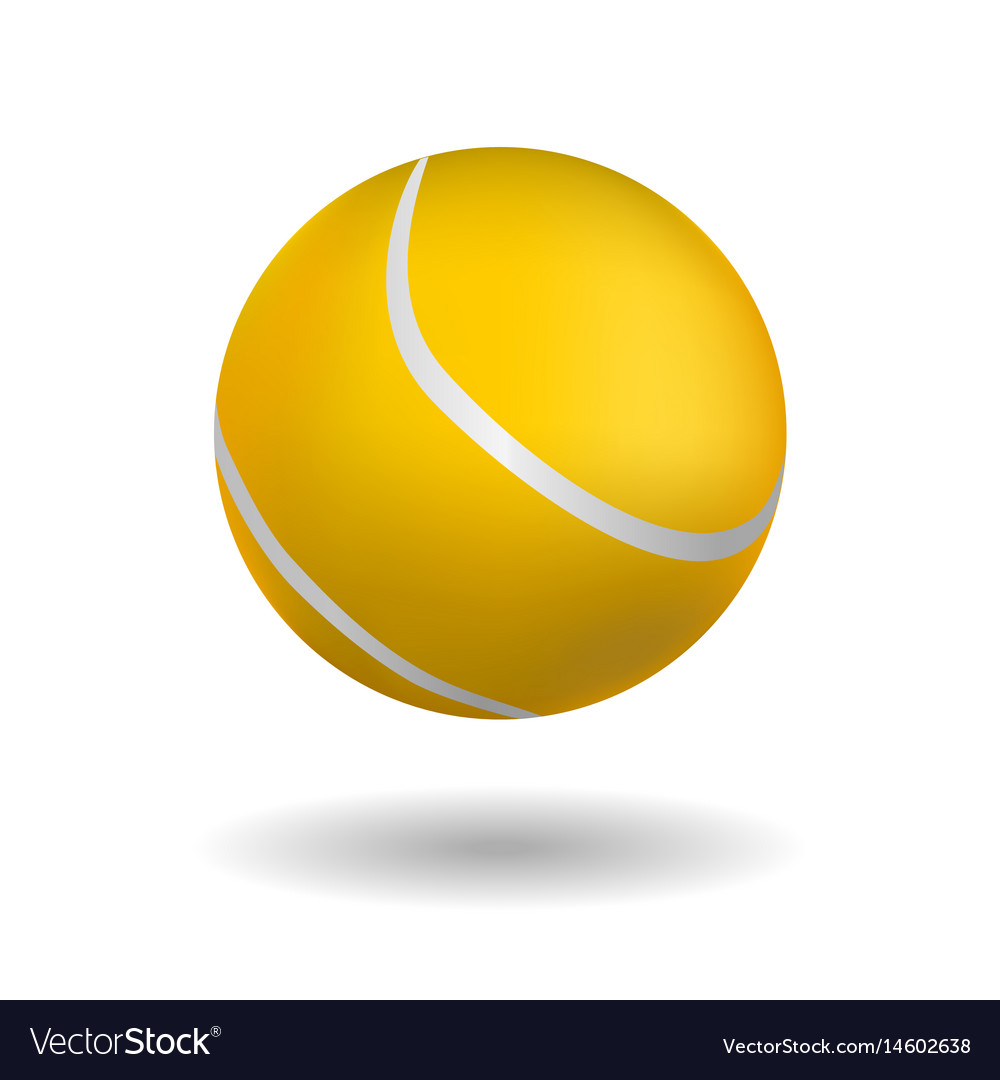 Tennis Ball On White Background Royalty Free Vector Image