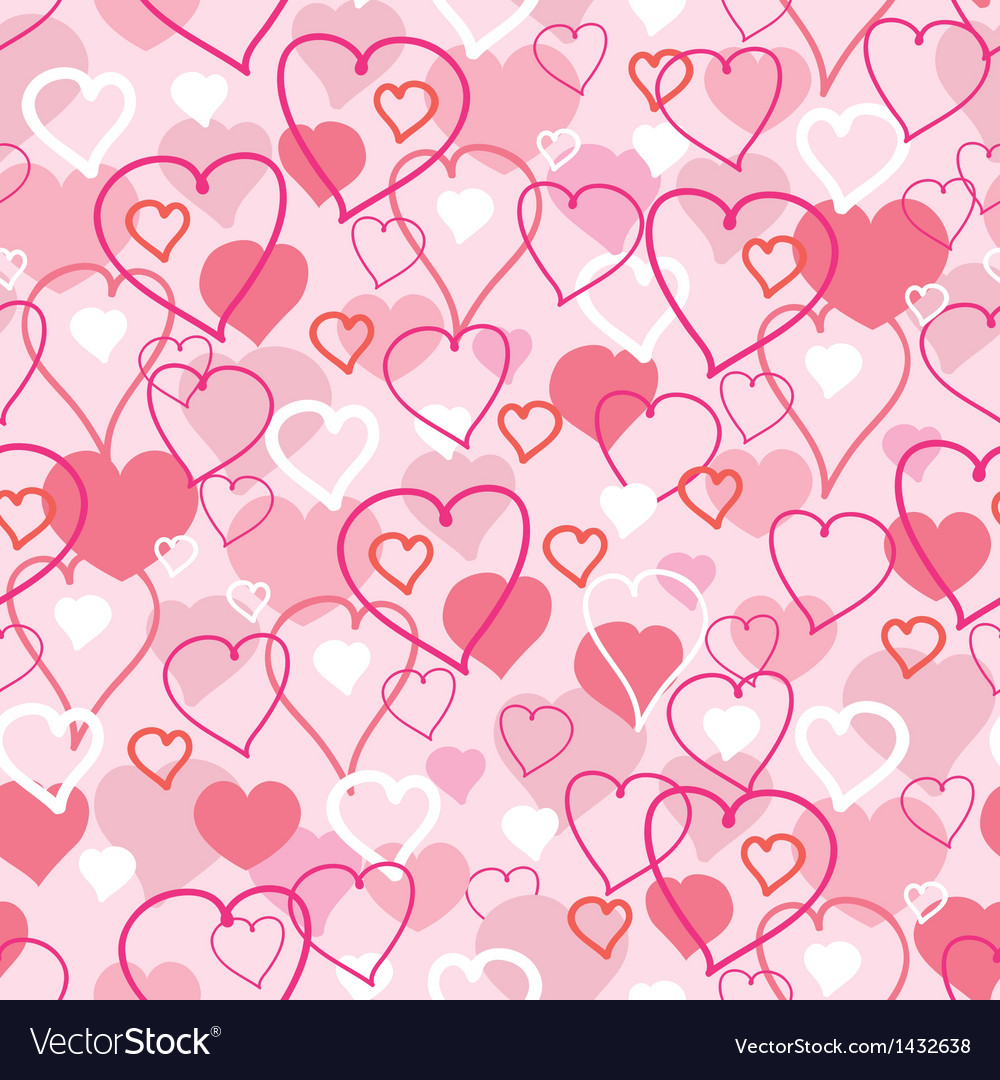 Valentines Day hearts seamless pattern background