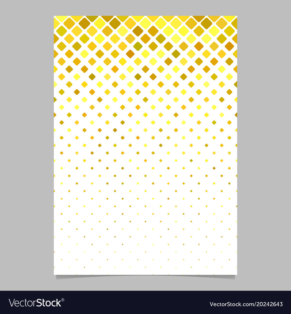 Abstract diagonal square mosaic pattern page vector image