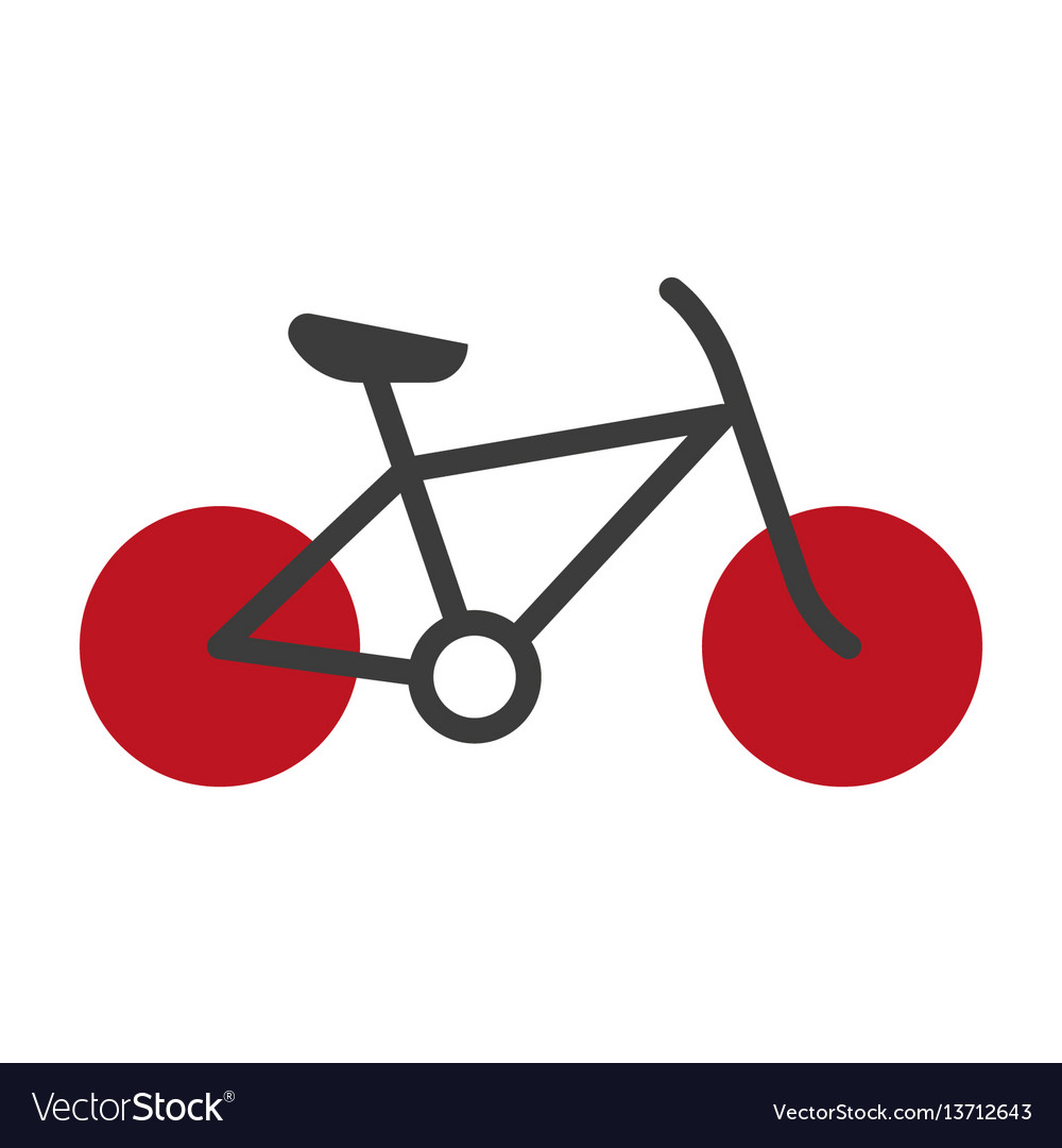 Bicycle silhouette isolated on white logo