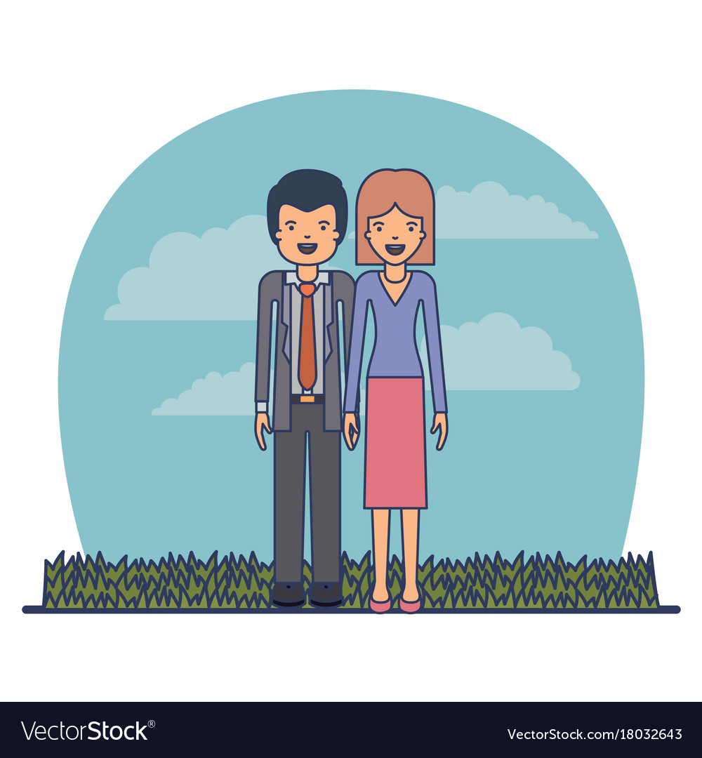 Couple teacher profession of man with formal suit vector image