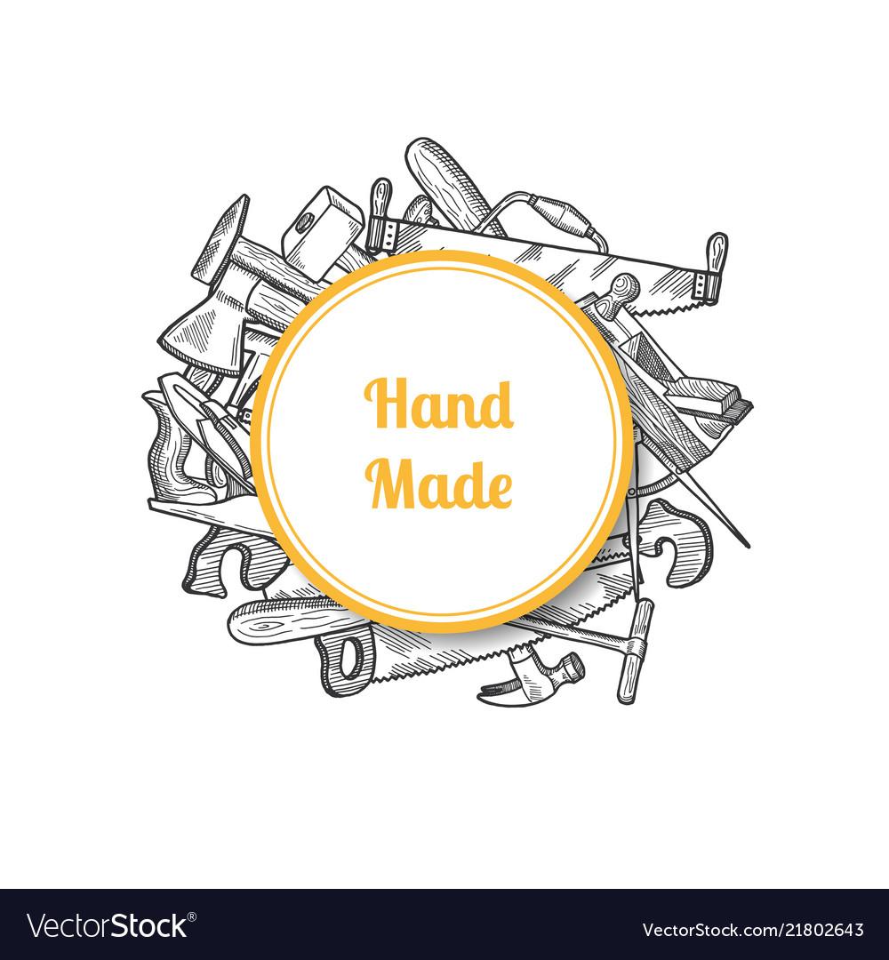 Hand drawn carpentry elements