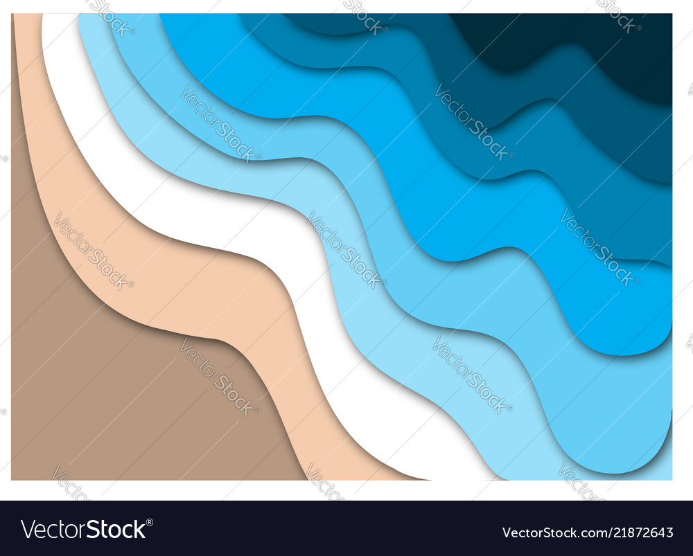 Tropical beach concept with ocean waves and sand