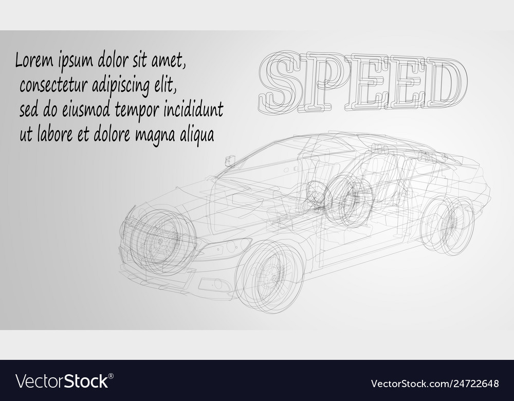 Abstract image of a sport car in the form of a