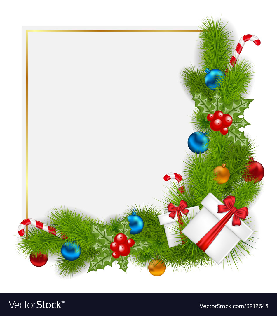 Traditional Christmas.Decorative Border From A Traditional Christmas