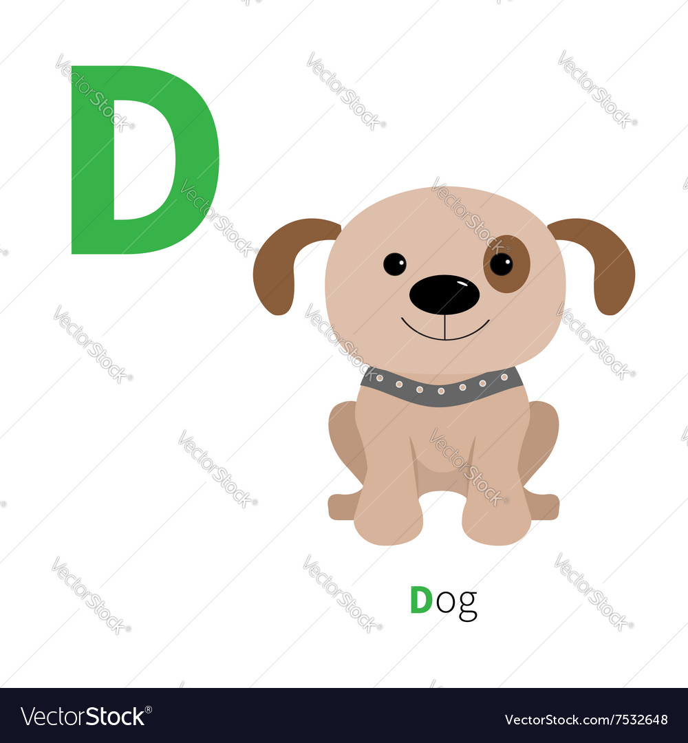 letter d dog zoo alphabet english abc with animals