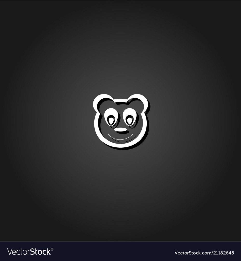 Panda icon flat