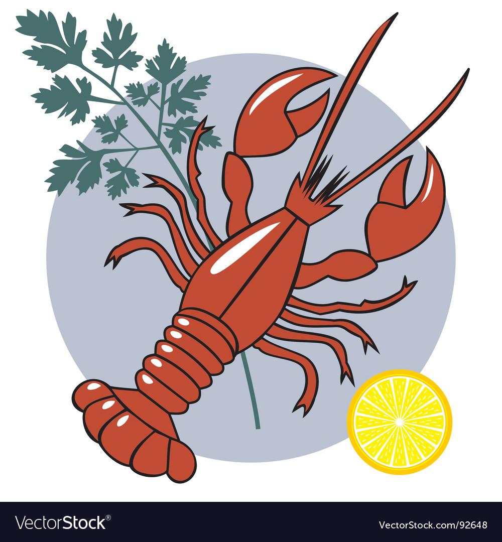 Seafood vector image