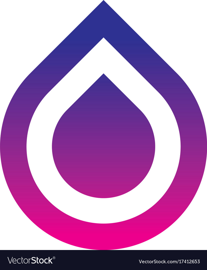 Abstract square waterdrop logo