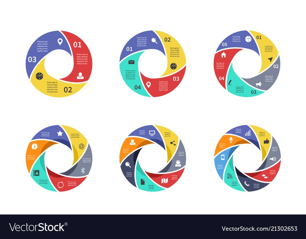 Circle graph pie strategy diagrams circular
