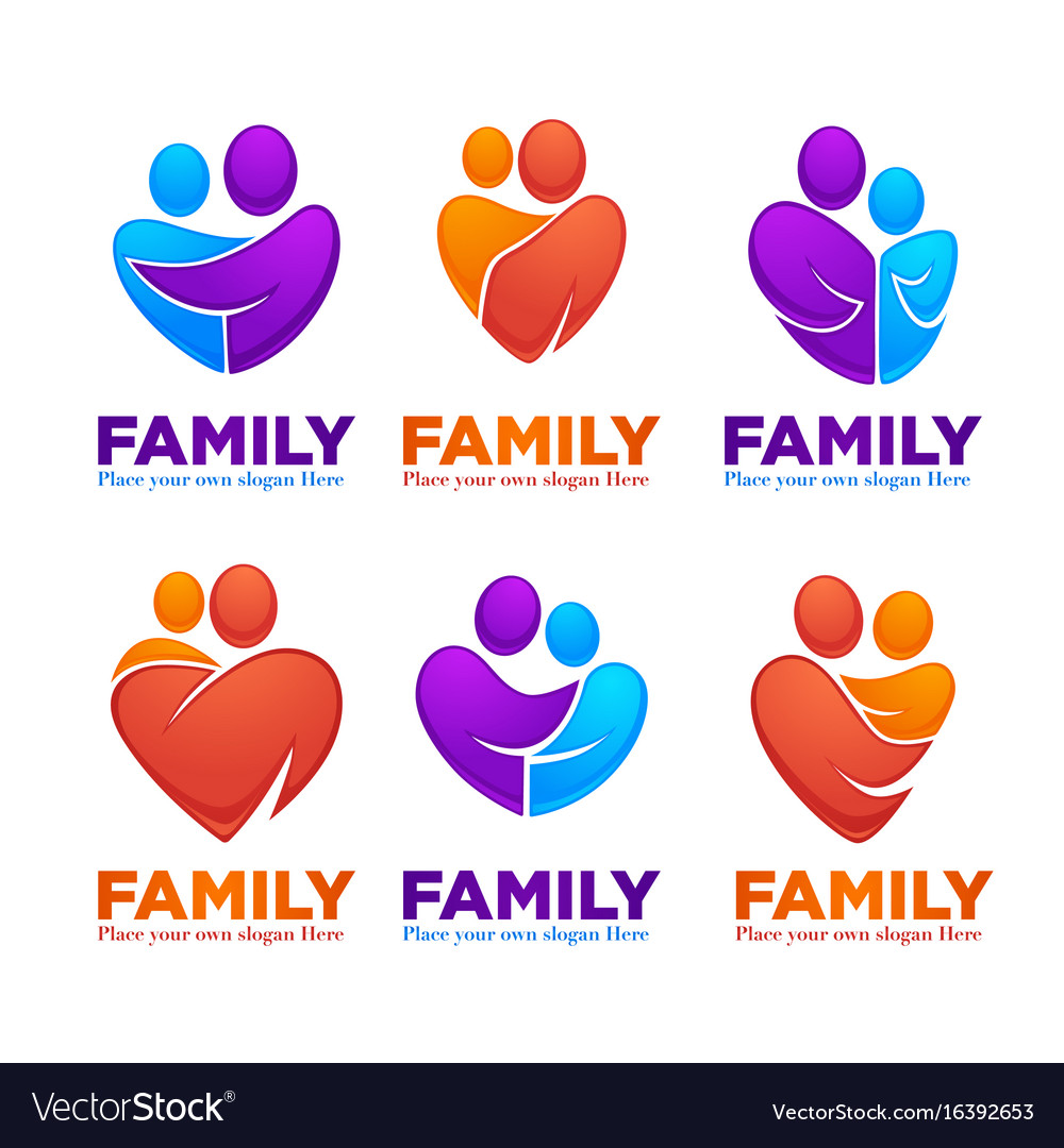 Happy family people man woman kids and