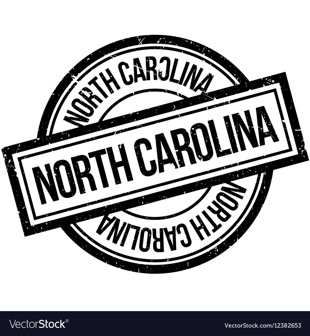 North Carolina rubber stamp vector image