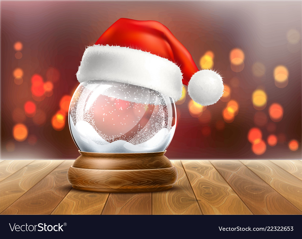 Realistic christmas snowglobe 3d winter toy