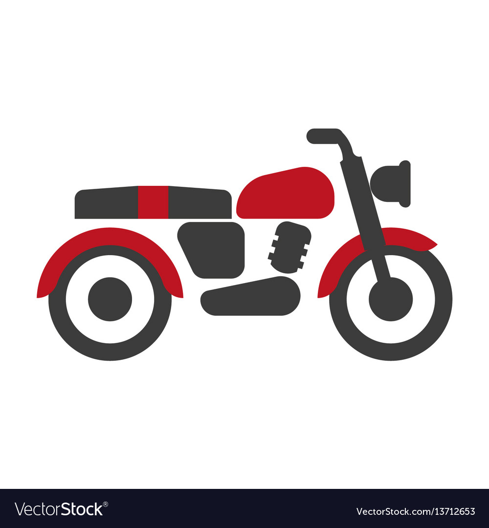 Red-black bike graphic silhouette isolated