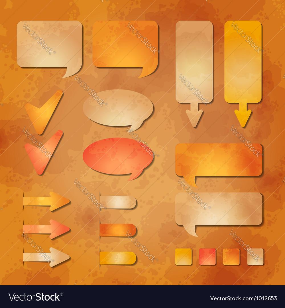 Set of textured web design elements vector image