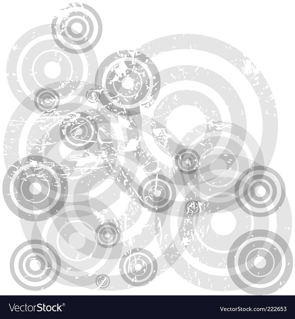 Transparent circles vector image
