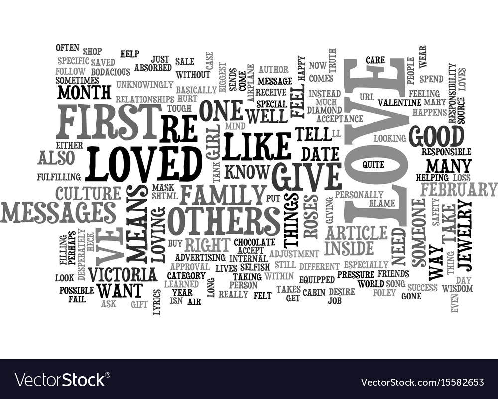 Who do you love text word cloud concept