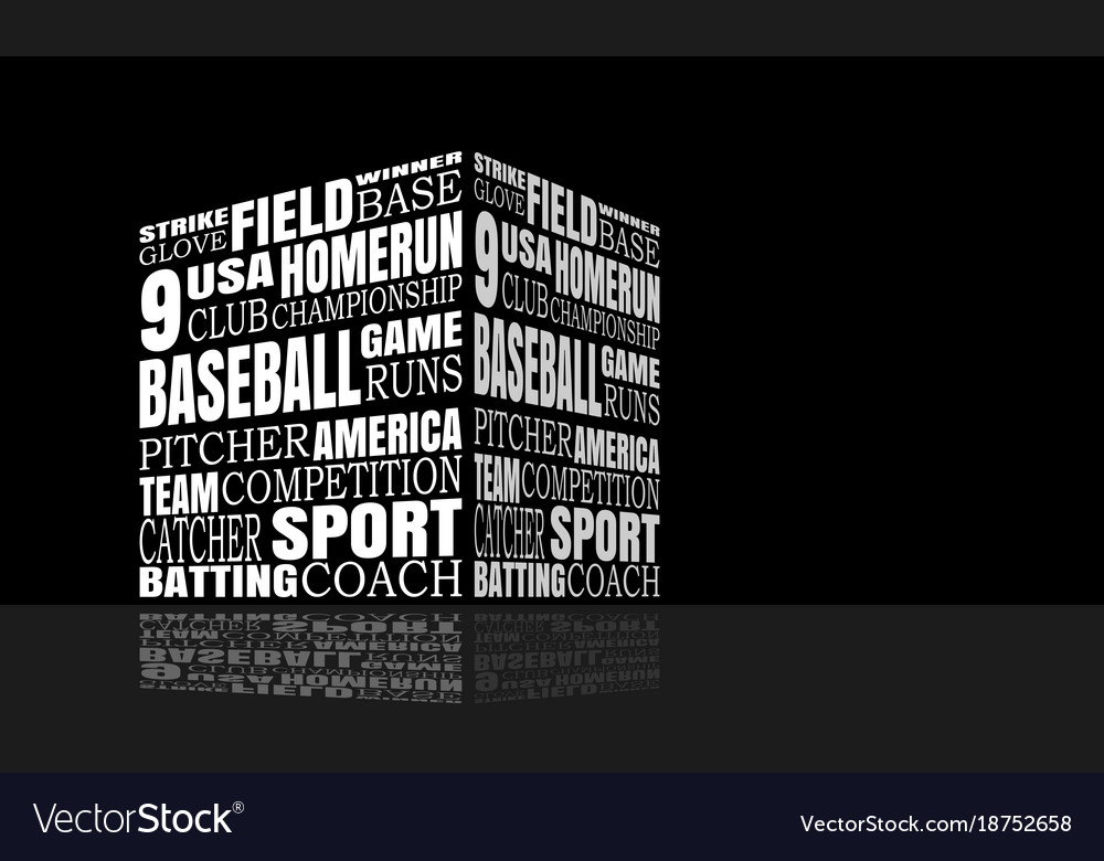 Baseball relative words cloud