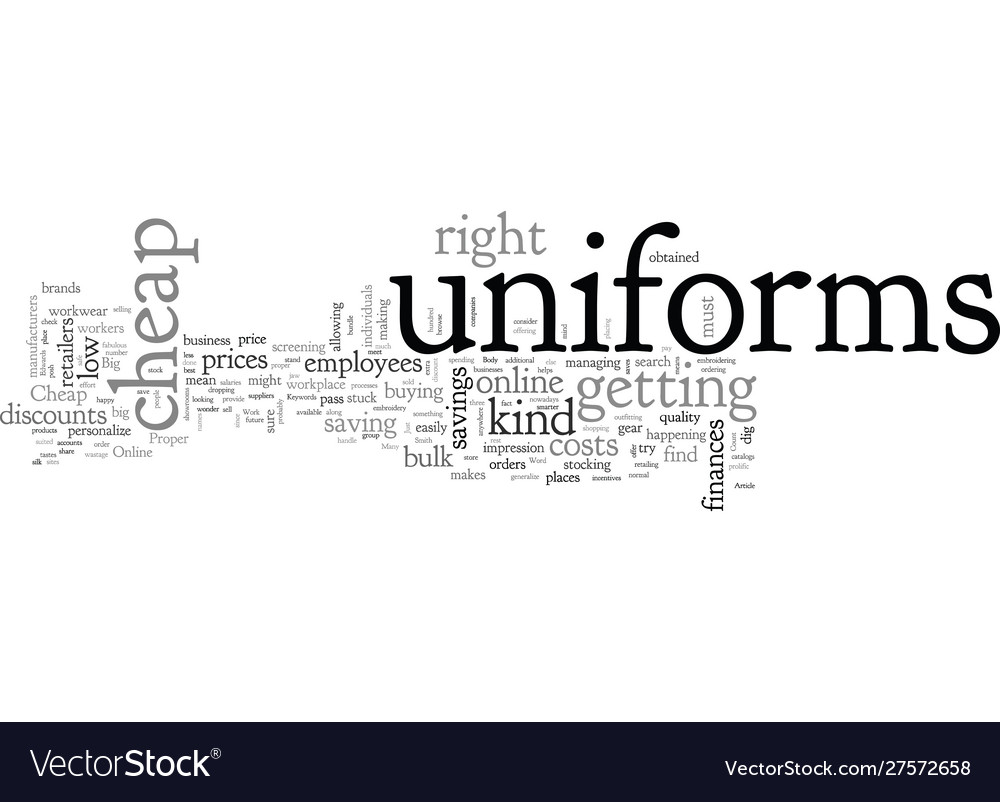 Cheap work uniforms