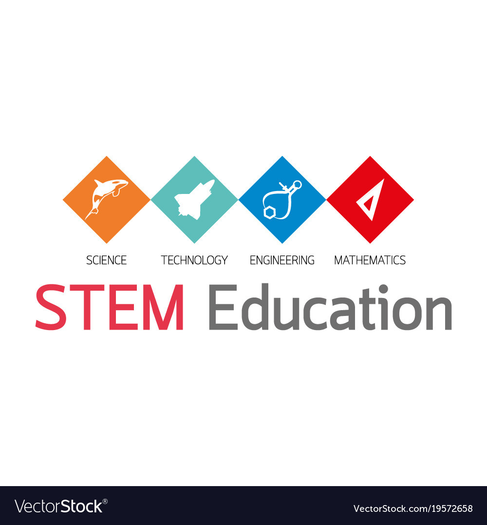 Stem Education Logo Royalty Free Vector Image Vectorstock