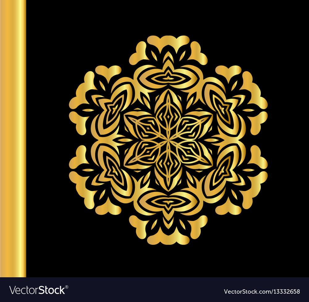 Vintage gold round pattern
