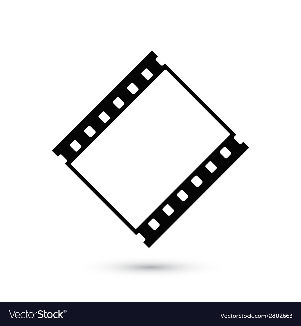 blank film strip icon isolated on white background vectorstock