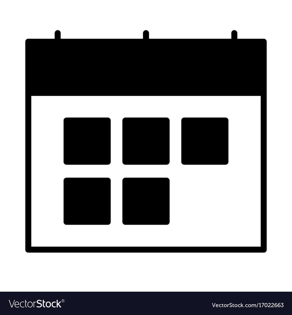 Calendar silhouette icon symbol