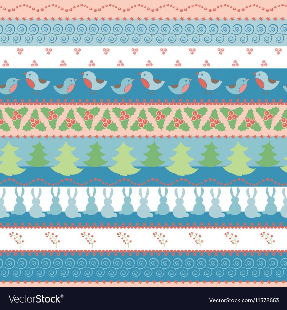 Christmas border seamless pattern