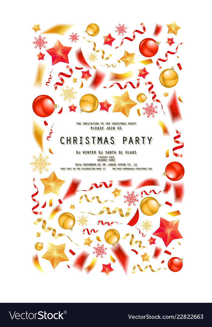 Christmas Party Or Dinner Invitation